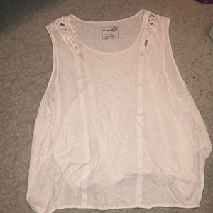 FREE PEOPLE OVER SIZED WHITE TANK